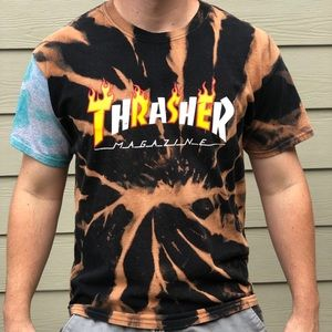 RARE Dyed Mix Match Thrasher Tee. 1 of 1